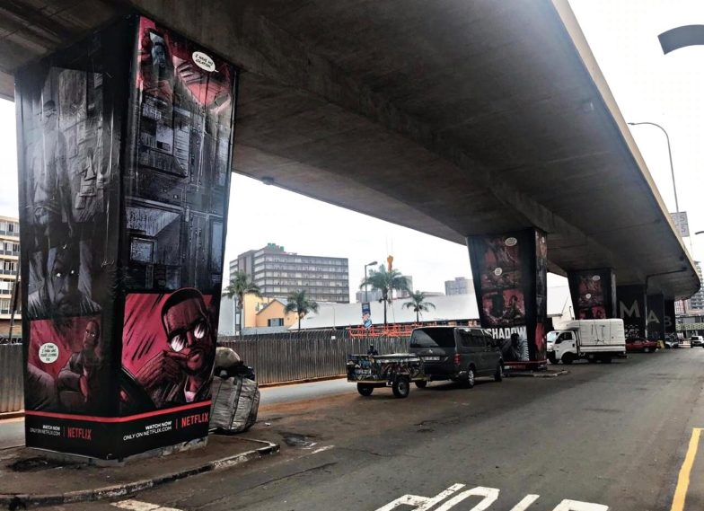 Netflix Maboneng Bridge Pillars I