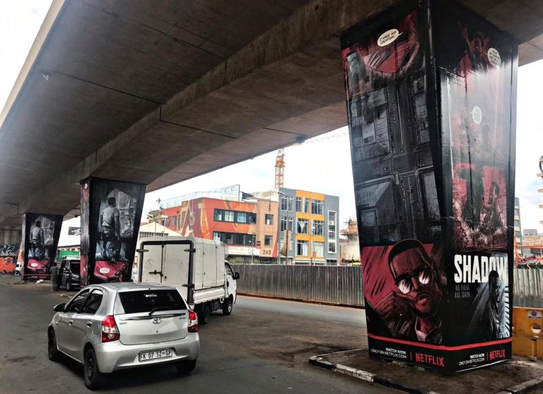 Netflix Maboneng Bridge Pillars III